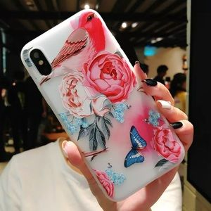 LAST 1! NEW iPhone 7/8 Floral Bird Butterfly Case